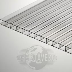 Polykarbonát komůrkový 4 mm čirý - 2 stěny - 0,8 kg/m2