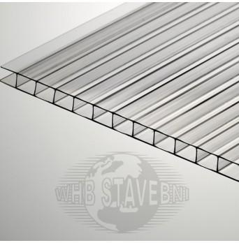 Polykarbonát komůrkový 4 mm čirý MAKROLON - 2 stěny - 0,8 kg/m2 12,6m2
